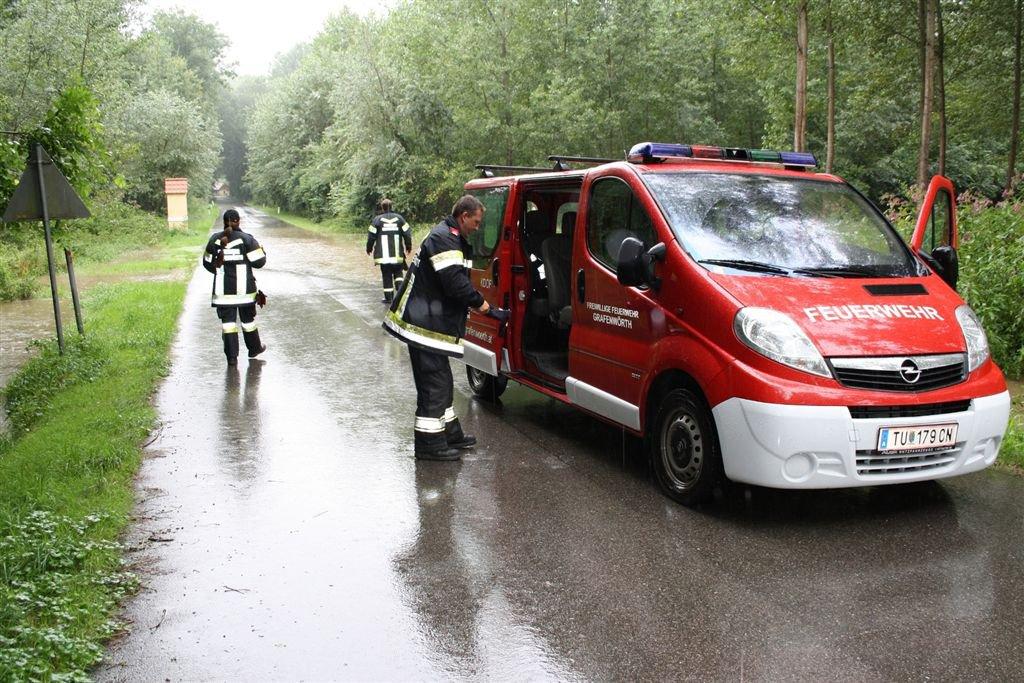 Hochwasseralarm in Grafenwörth