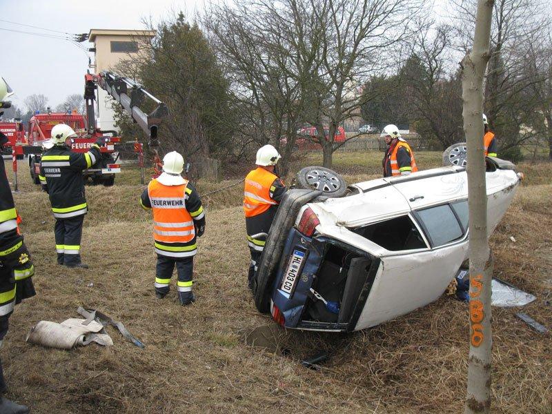 Verkehrsunfall auf der B4 Richtung Niederrußbach