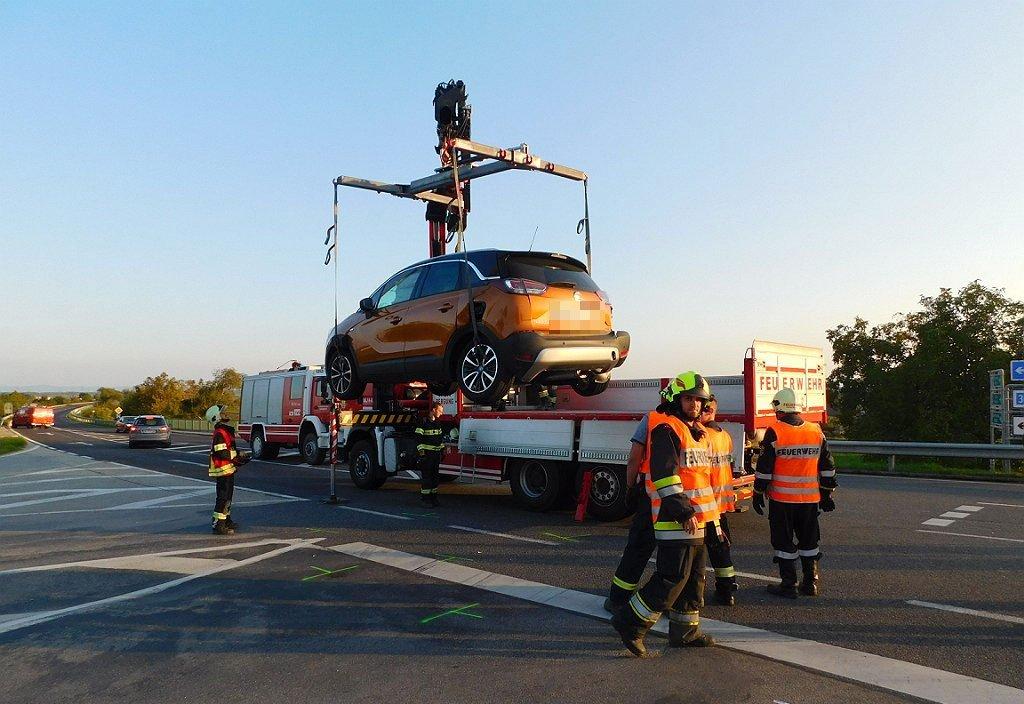 Verkehrsunfall an der B34 bei Fels/Wagram