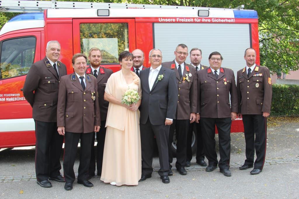 Abschnittskommandant Stellvertreter ABI Ernst Mantler hat geheiratet